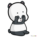 How to Draw Chibi Panda, We Bare Bears