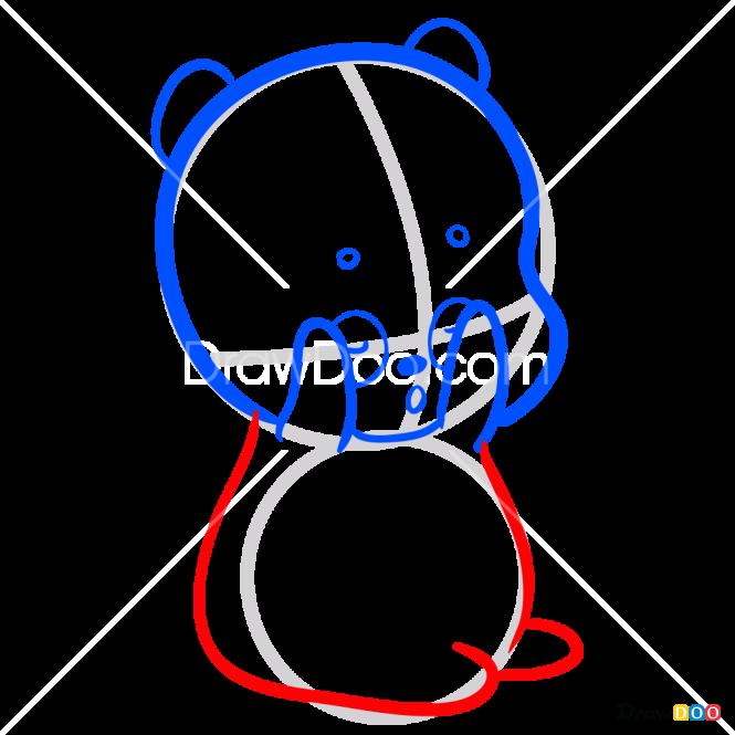 How to Draw Chibi Panda, We Bare Bears