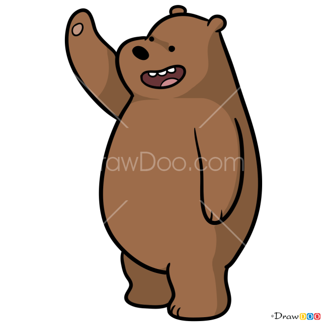 How to Draw Grizzly, We Bare Bears