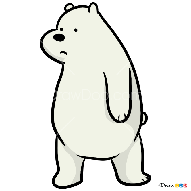 How to Draw Ice Bear, We Bare Bears