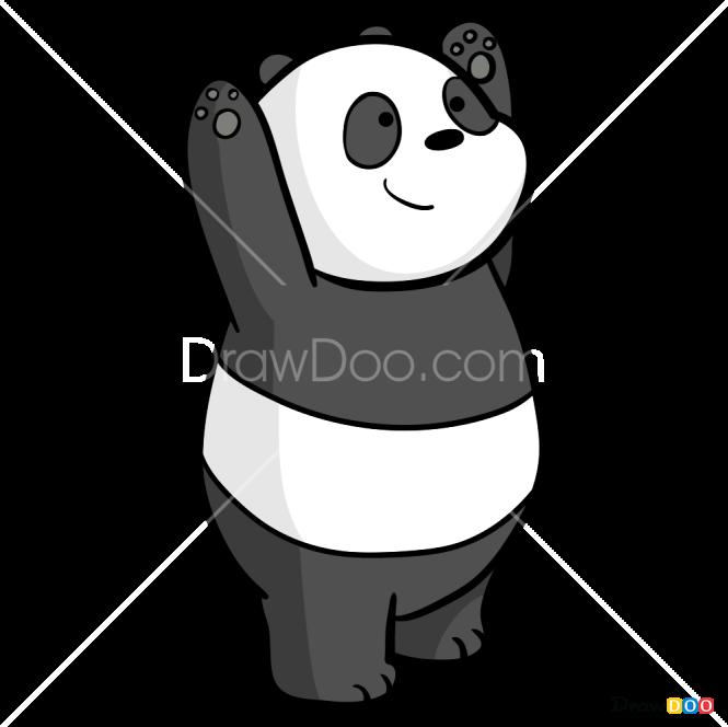 How To Draw Panda We Bare Bears