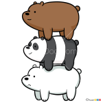 How to Draw We Bare Bears, We Bare Bears