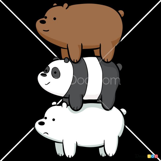 How to Draw We Bare Bears, We Bare Bears