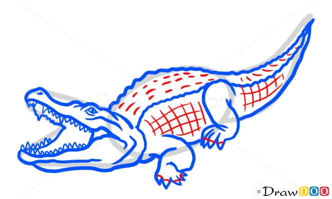 How to Draw Crocodile, Wild Animals