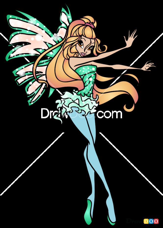 How to Draw Daphne, Winx Club