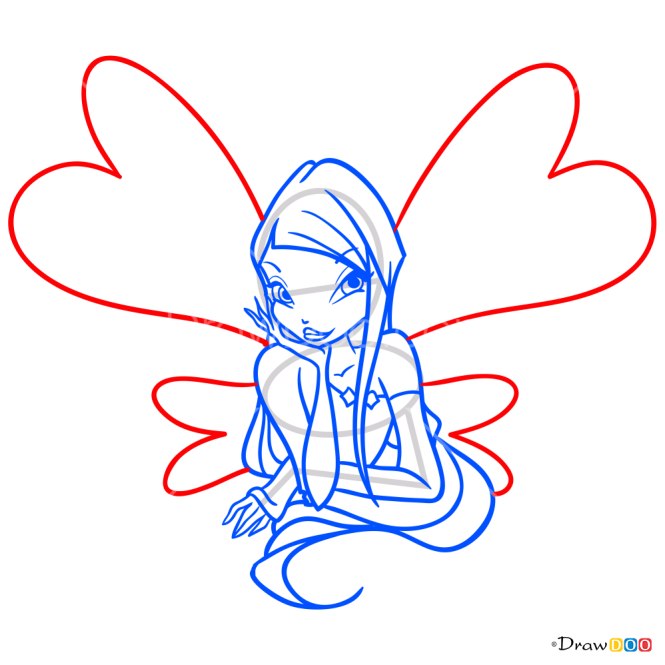 How to Draw Roxy, Winx Club
