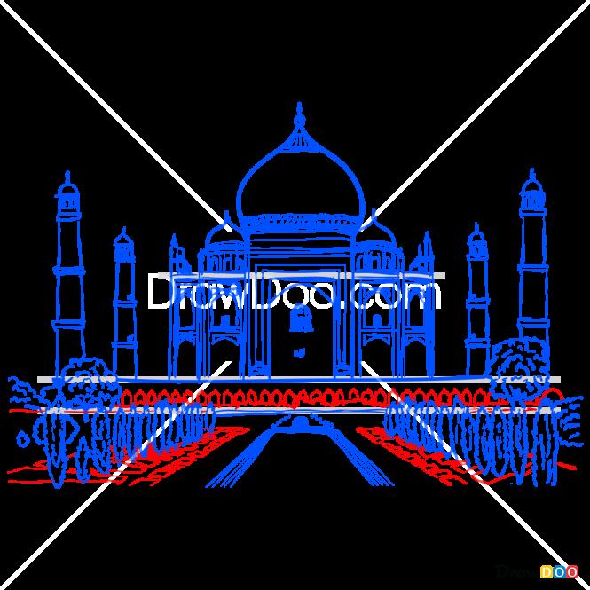 How to Draw Taj Mahal, World Marvels