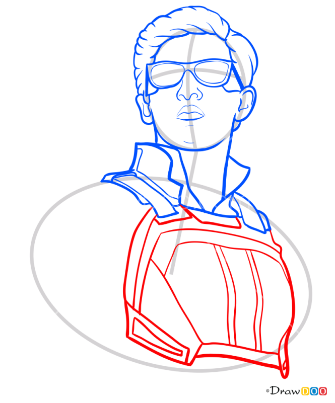 How to Draw Cyclops, X-men