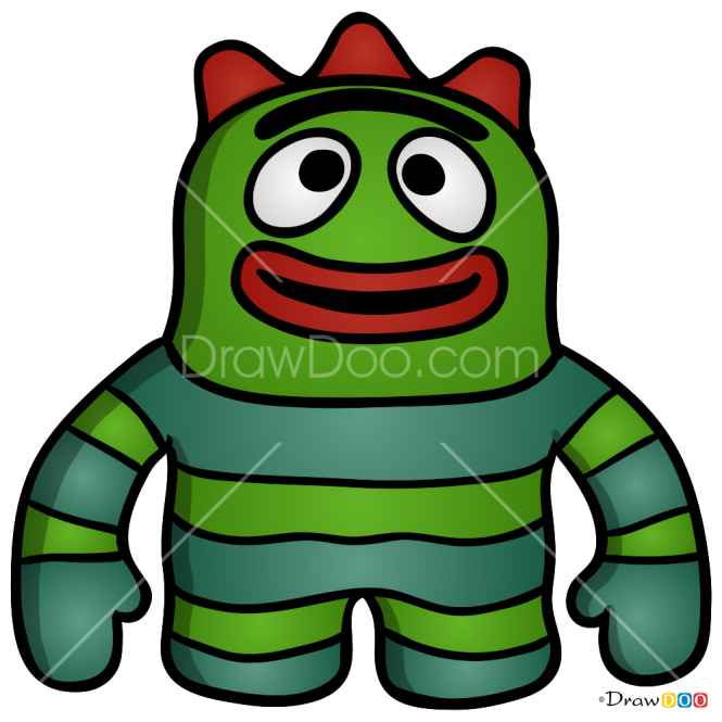 How to Draw Brobee Toy, Yo Gabba Gabba