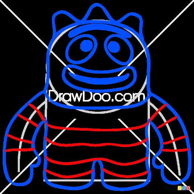 How to Draw Brobee Toy, Yo Gabba Gabba
