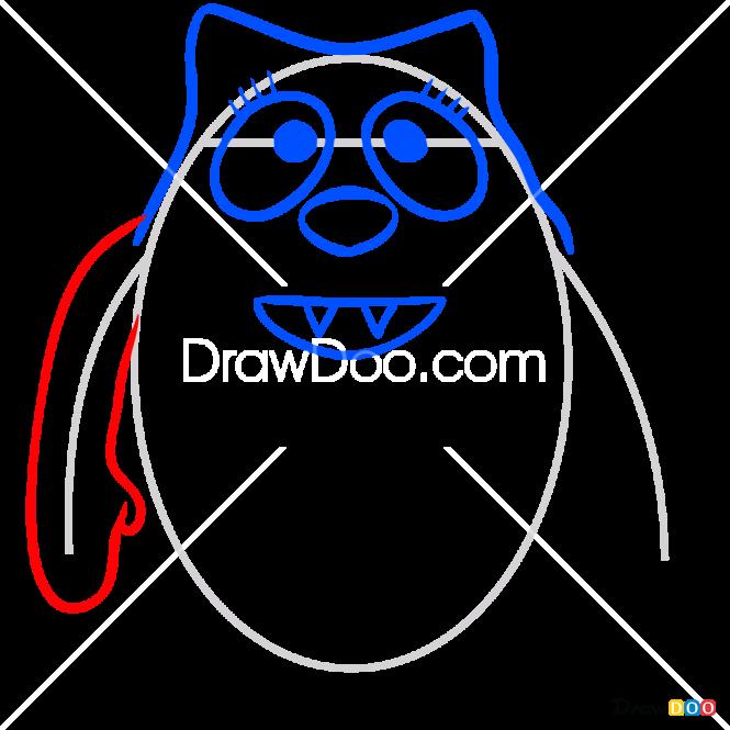 How to Draw Toodee Toy, Yo Gabba Gabba