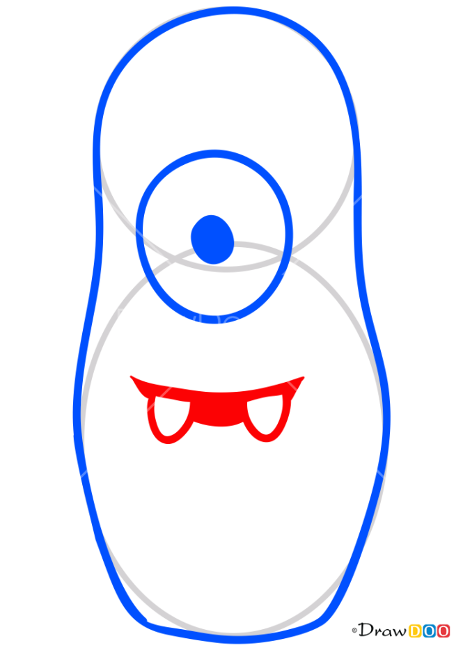 How to Draw Muno Nesting Doll, Yo Gabba Gabba