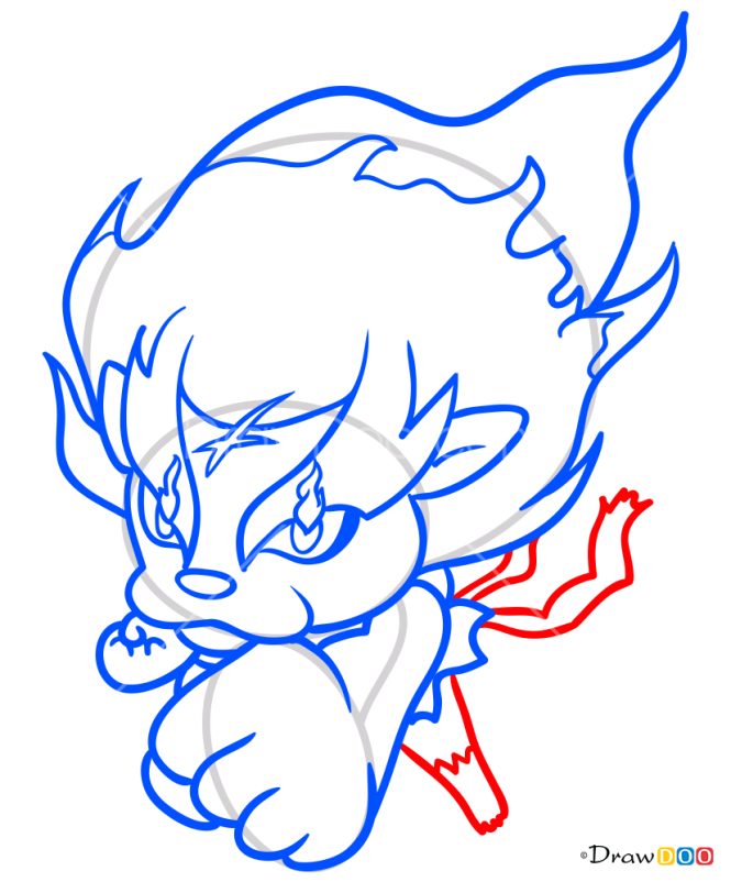 How to Draw Blazion, Yo-Kai Watch