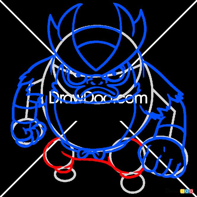 How to Draw Goruma, Yo-Kai Watch