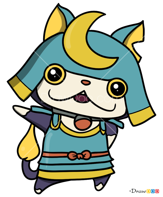 How To Draw Shogunyan Yo Kai Watch