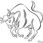 How to Draw Taurus, Bull, Zodiac Signs
