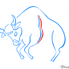 How to Draw Taurus, Bull, Zodiac Signs