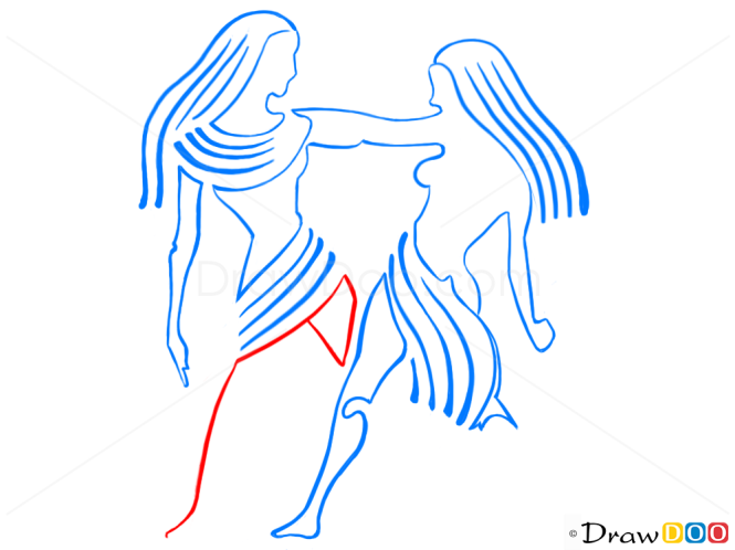 How to Draw Gemini, Twins, Zodiac Signs