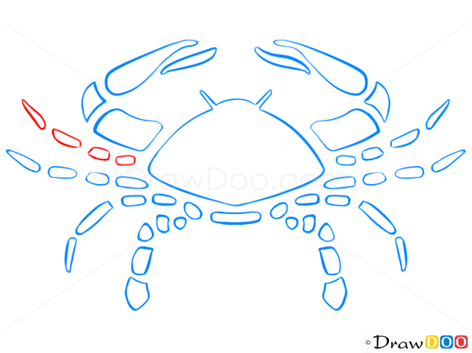 How to Draw Cancer, Crab, Zodiac Signs