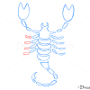 How to Draw Scorpio, Scorpion, Zodiac Signs