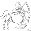 How to Draw Sagittarius, Centaur, Zodiac Signs