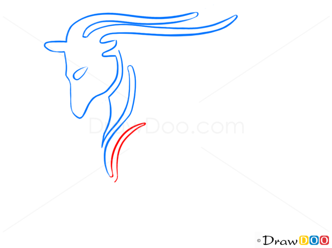 How to Draw Capricorn, Goat, Zodiac Signs