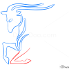 How to Draw Capricorn, Goat, Zodiac Signs