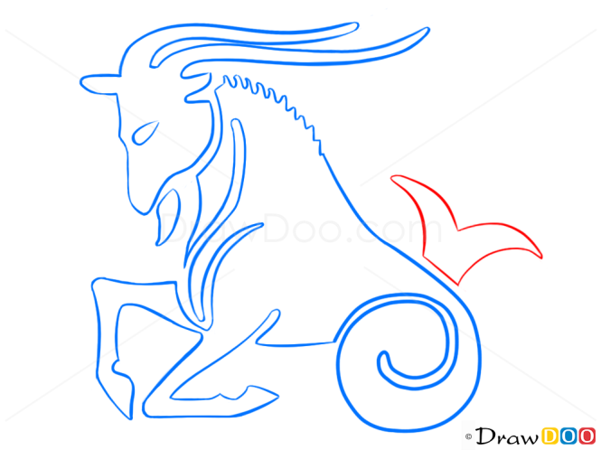 How To Draw Capricorn Goat Zodiac Signs