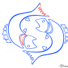 How to Draw Pisces, Fish, Zodiac Signs