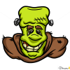 How to Draw Frankenstein Face, Zombies and Undead