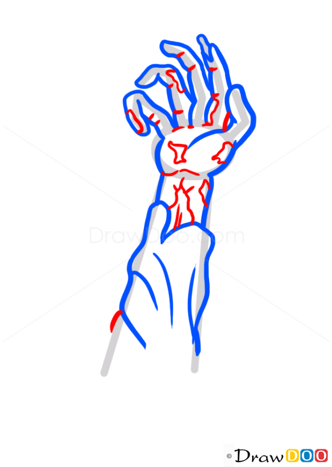 How to Draw Zombie Arm, Zombies and Undead