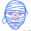 How to Draw Mummy Face, Zombies and Undead