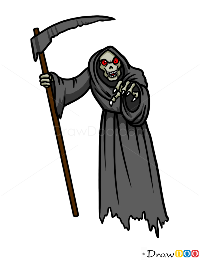 How to Draw Reaper Skeleton, Zombies and Undead