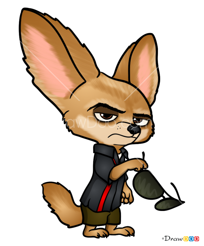 How to Draw Finnick, Zootopia