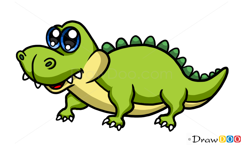 Crocodile drawing how to draw cute anime animals for Easy to draw crocodile
