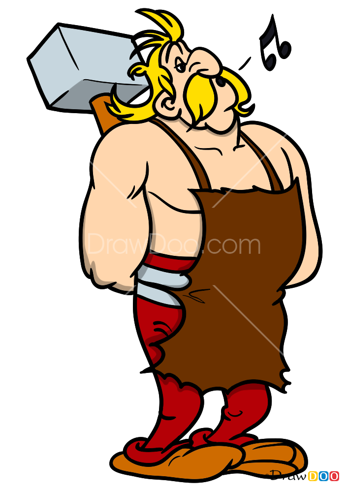 How To Draw Fulliautomatix Asterix And Obelix