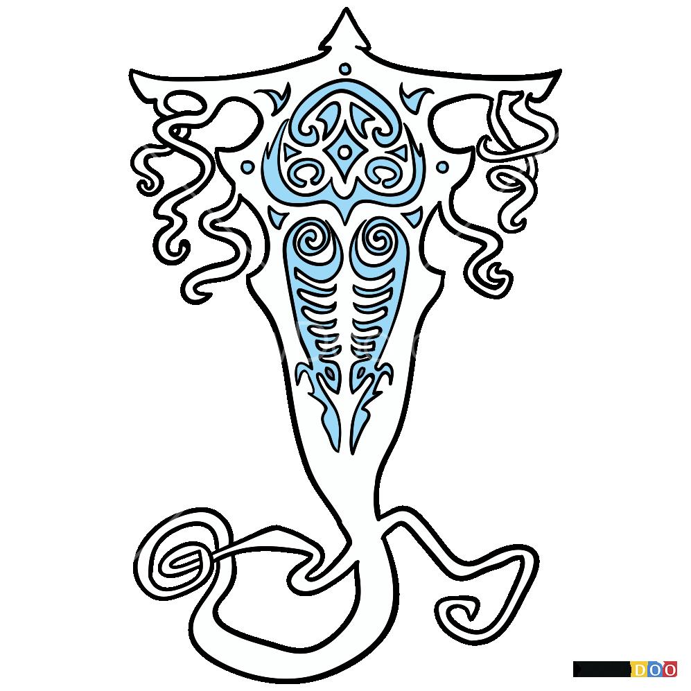 How to draw raava avatar