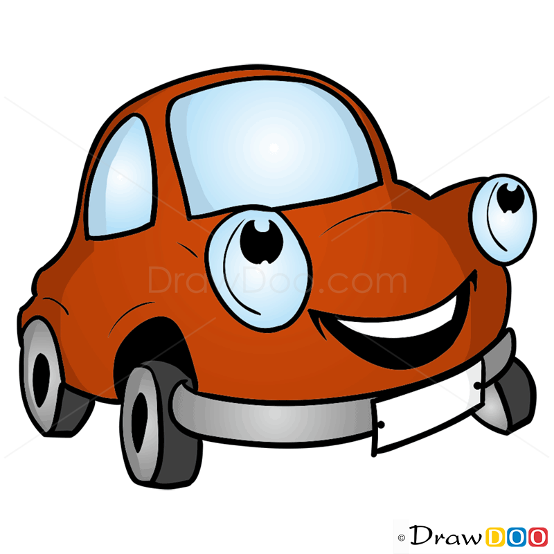 How To Draw Happy Car Cartoon Cars