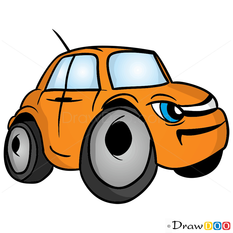 how to draw grumpy car cartoon cars
