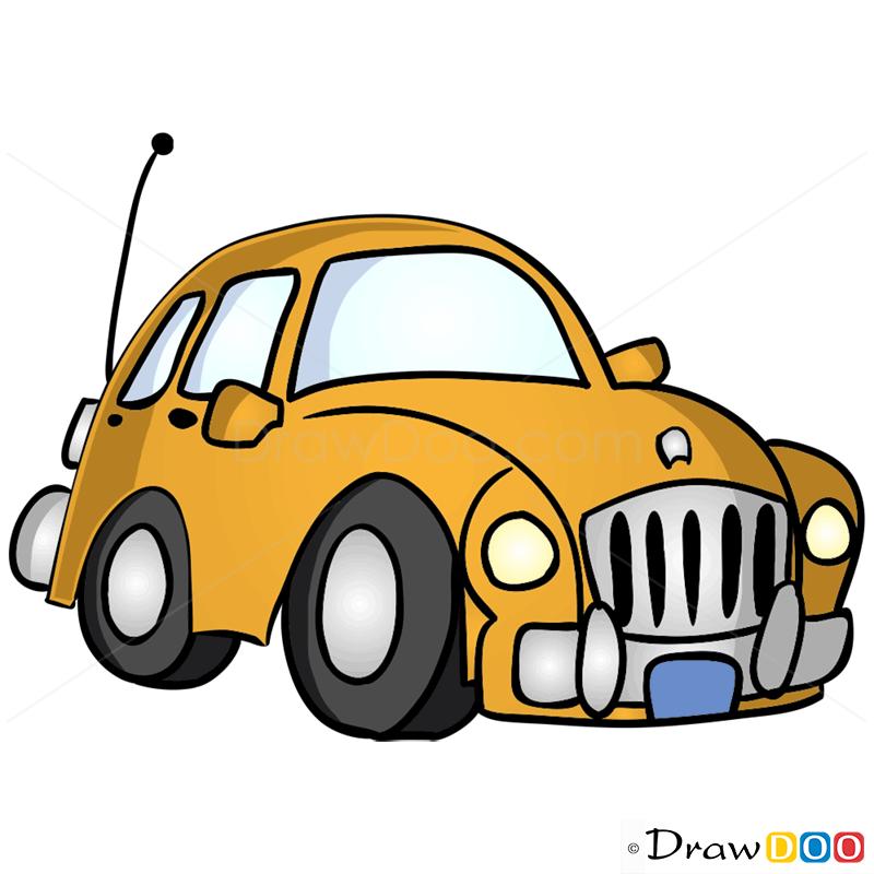 How To Draw Mustard Car Cartoon Cars