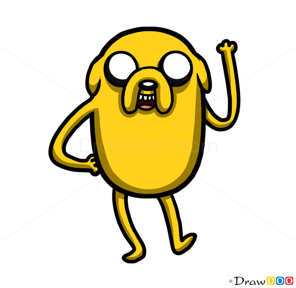 How to draw jake the dog cartoon characters how to draw drawing
