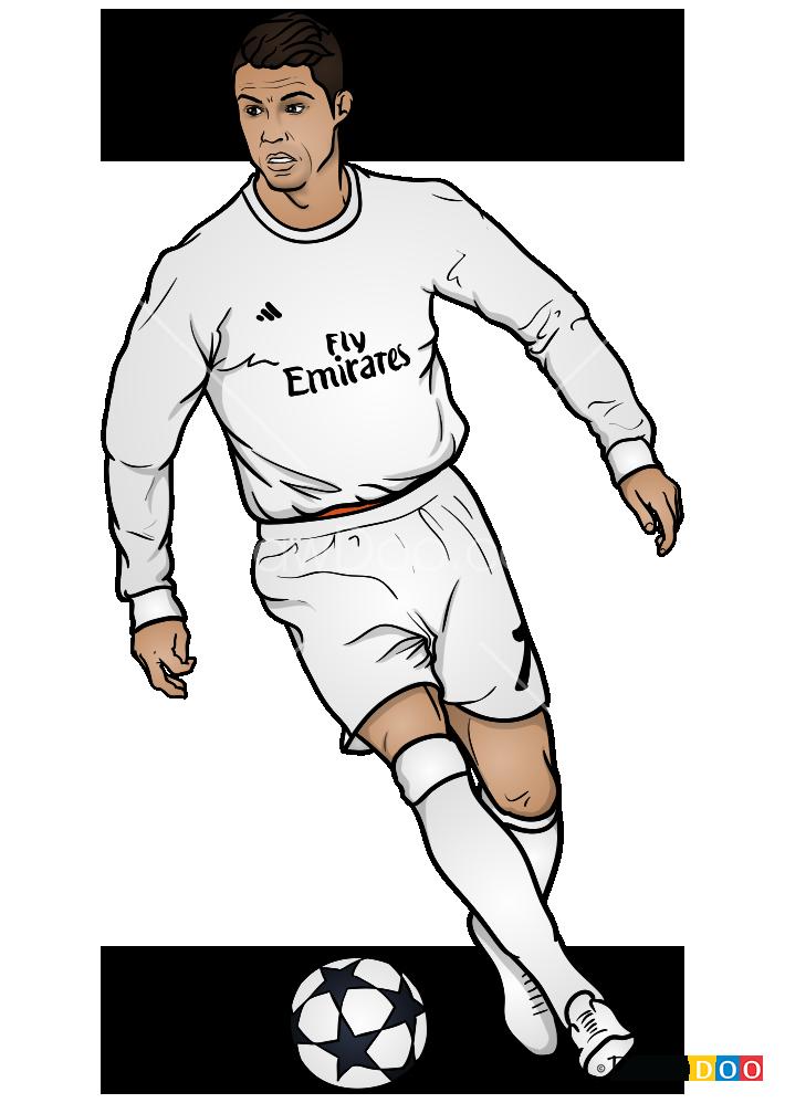 How To Draw Ronaldo On Field Celebrities Cristiano Ronaldo