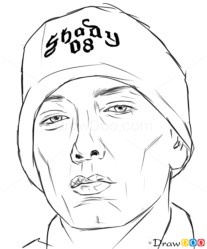 How To Draw Eminem Celebrities How To Draw Drawing
