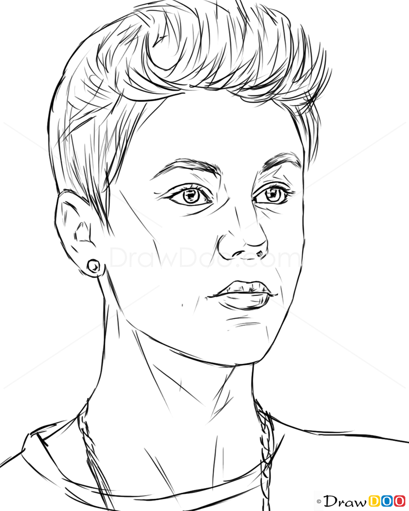 How To Draw Justin Bieber Celebrities How To Draw