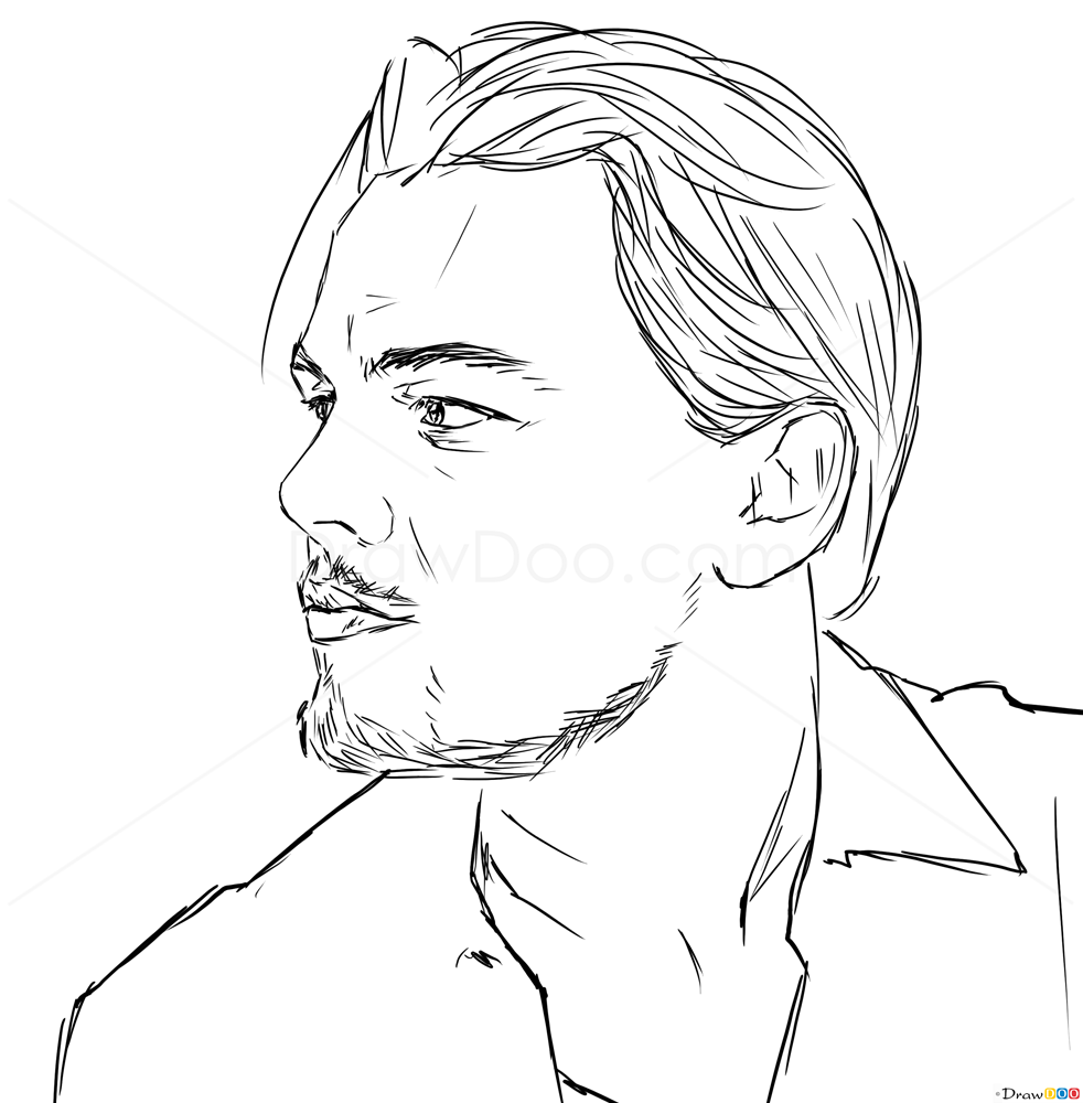 how to draw leonardo dicaprio celebrities