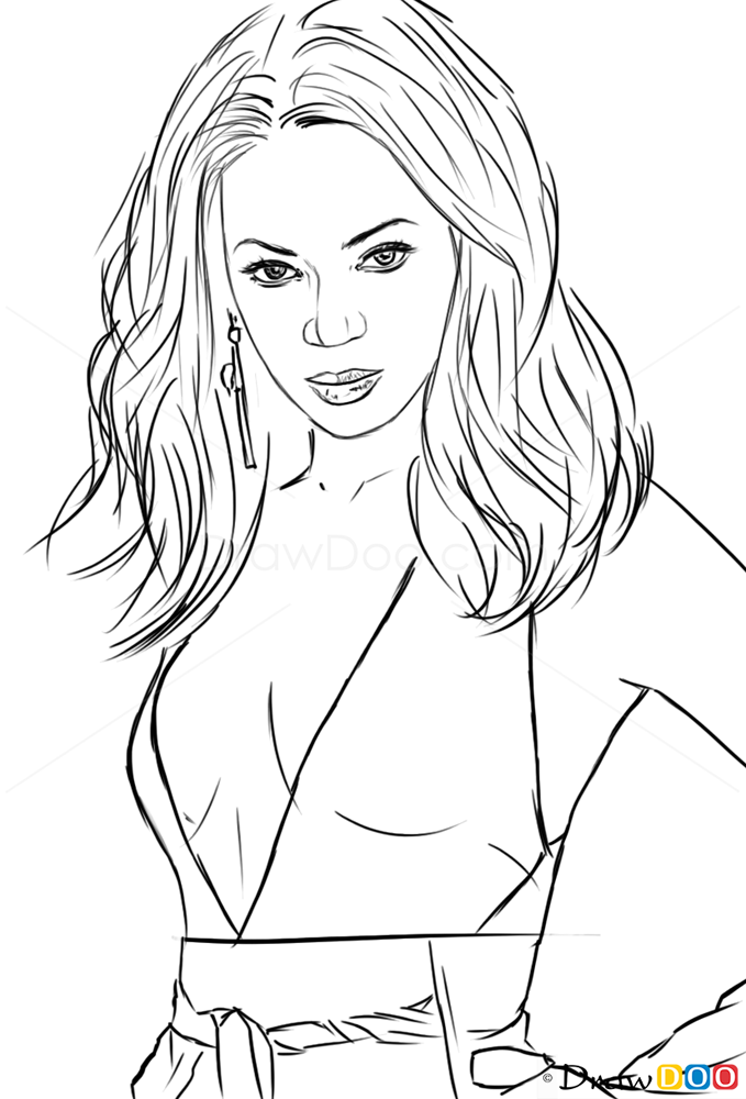 How To Draw Beyonce Celebrities How To Draw Drawing