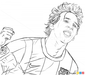 How to Draw Lionel Messi Celebrities