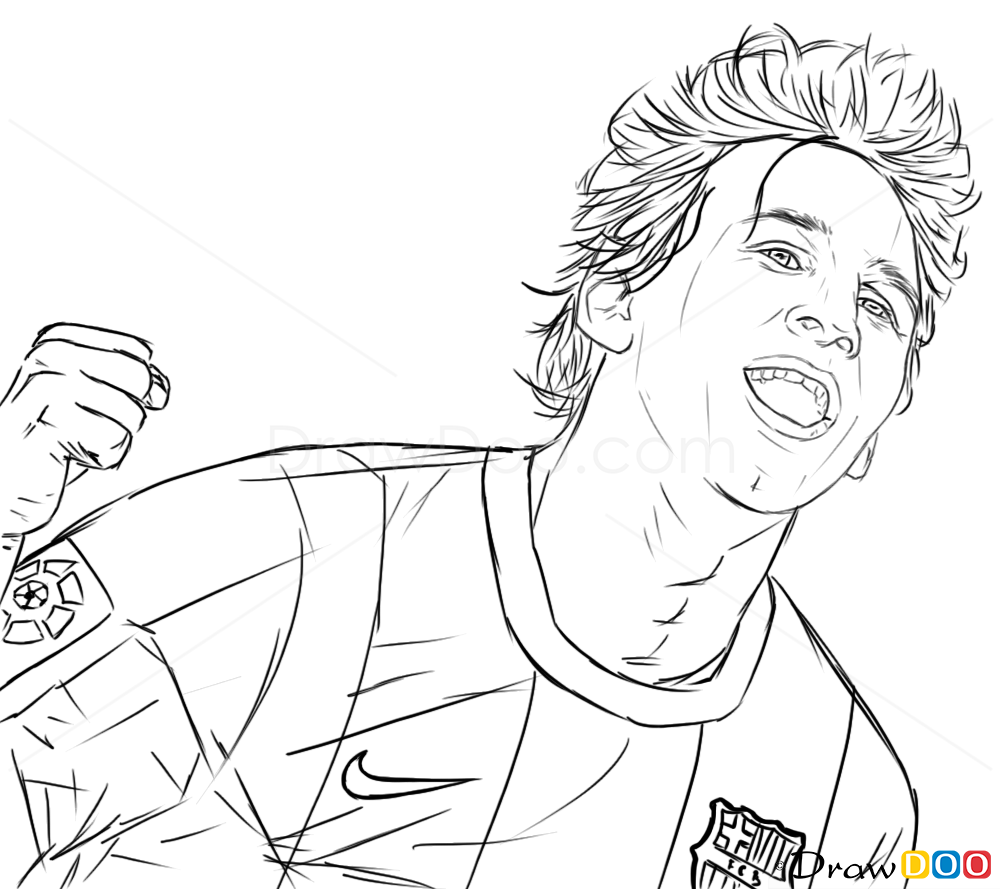 soccer star messi coloring pages - photo#16