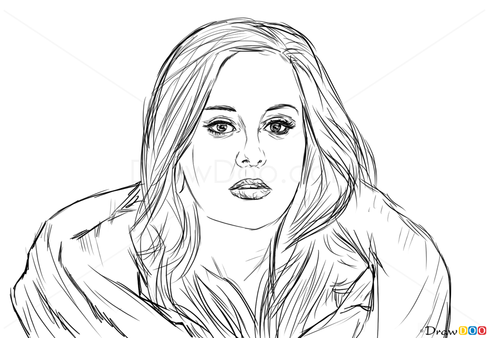 How to draw adele celebrities how to draw drawing ideas draw