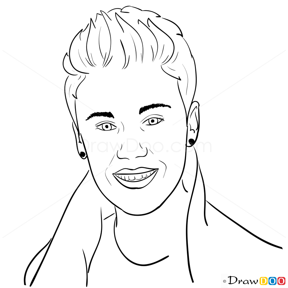 how to draw justin bieber step by step 2012